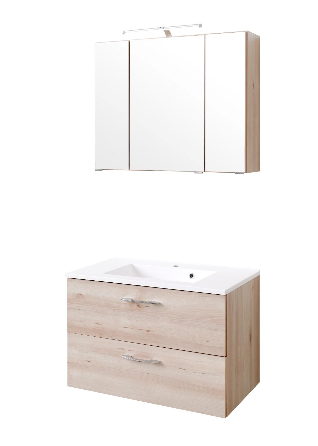 badm bel set portofino mit waschtisch 4 teilig 80 cm breit buche iconic bad badm belsets. Black Bedroom Furniture Sets. Home Design Ideas