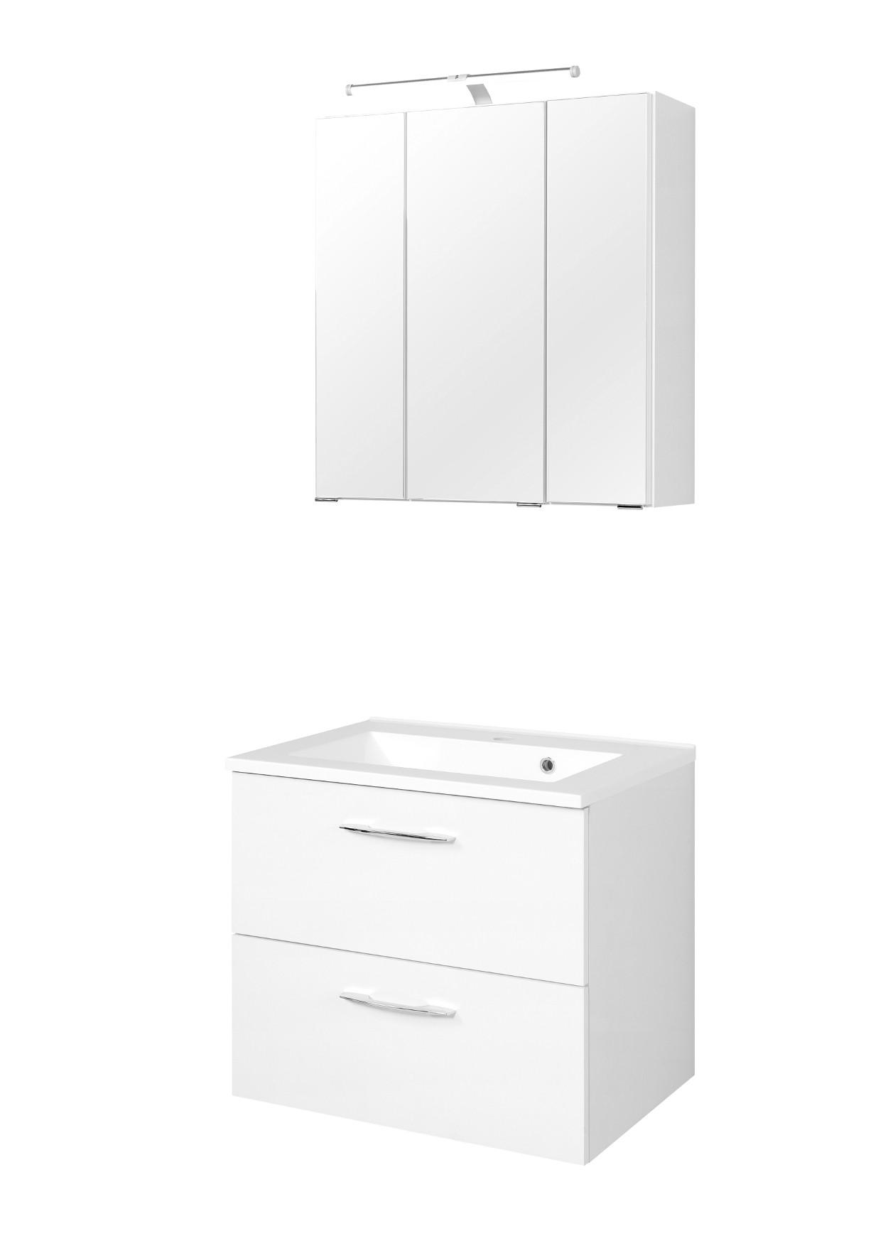 badm bel set portofino mit waschtisch 4 teilig 60 cm breit wei bad badm belsets. Black Bedroom Furniture Sets. Home Design Ideas