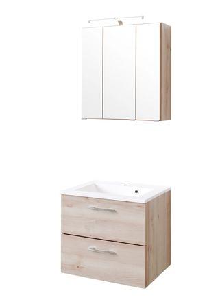 Badmöbel-Set PORTOFINO - mit Waschtisch - 4-teilig - 60 cm breit - Buche Iconic