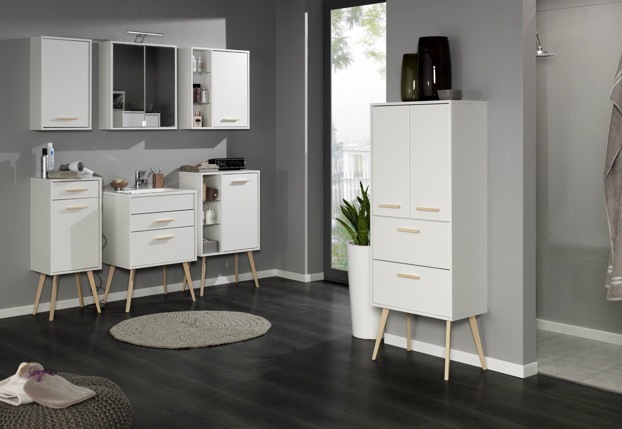 badezimmer waschtisch mit becken malm waschplatz 100 cm weiss matt ebay. Black Bedroom Furniture Sets. Home Design Ideas