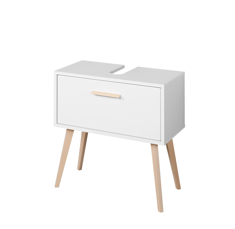 bad-waschbeckenunterschrank malmÖ - 1 auszug - 60 cm breit - weiß, Badezimmer ideen
