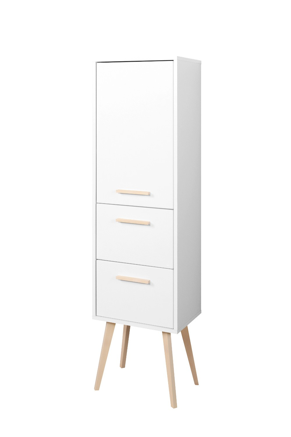 badezimmer midischrank malm midi highboard badschrank 40 cm weiss matt ebay. Black Bedroom Furniture Sets. Home Design Ideas