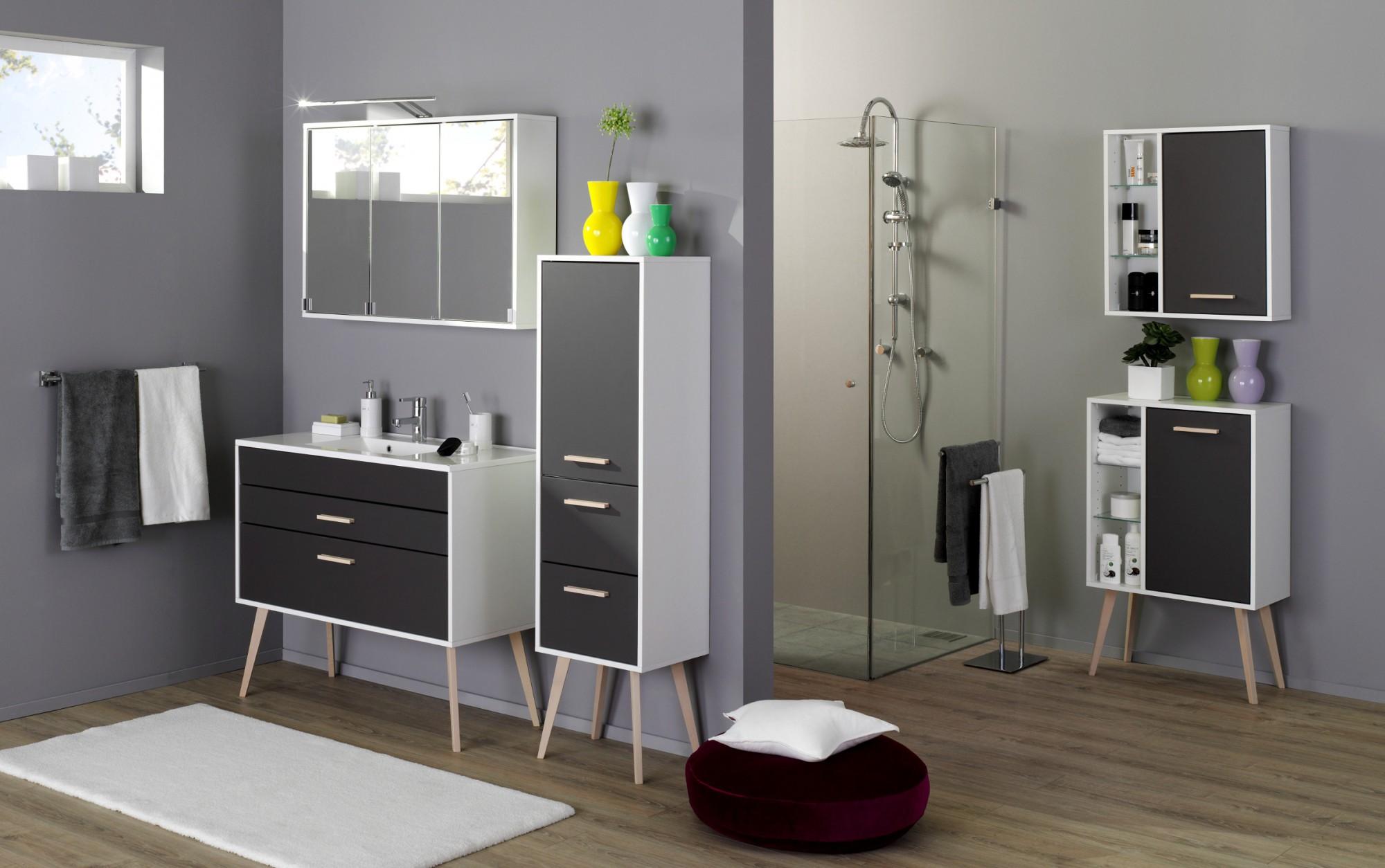 Badezimmer h ngeschrank malm badezimmerschrank 60 cm for Anthrazit badezimmer