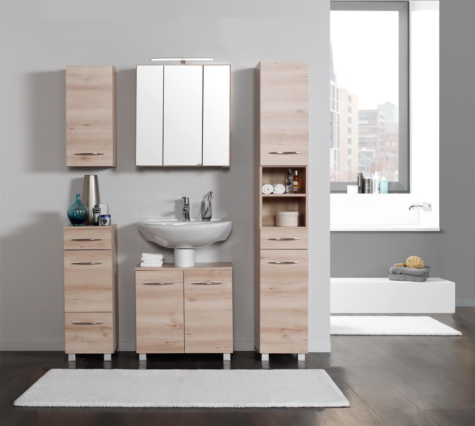 badm bel set portofino 6 teilig 120 cm breit buche. Black Bedroom Furniture Sets. Home Design Ideas