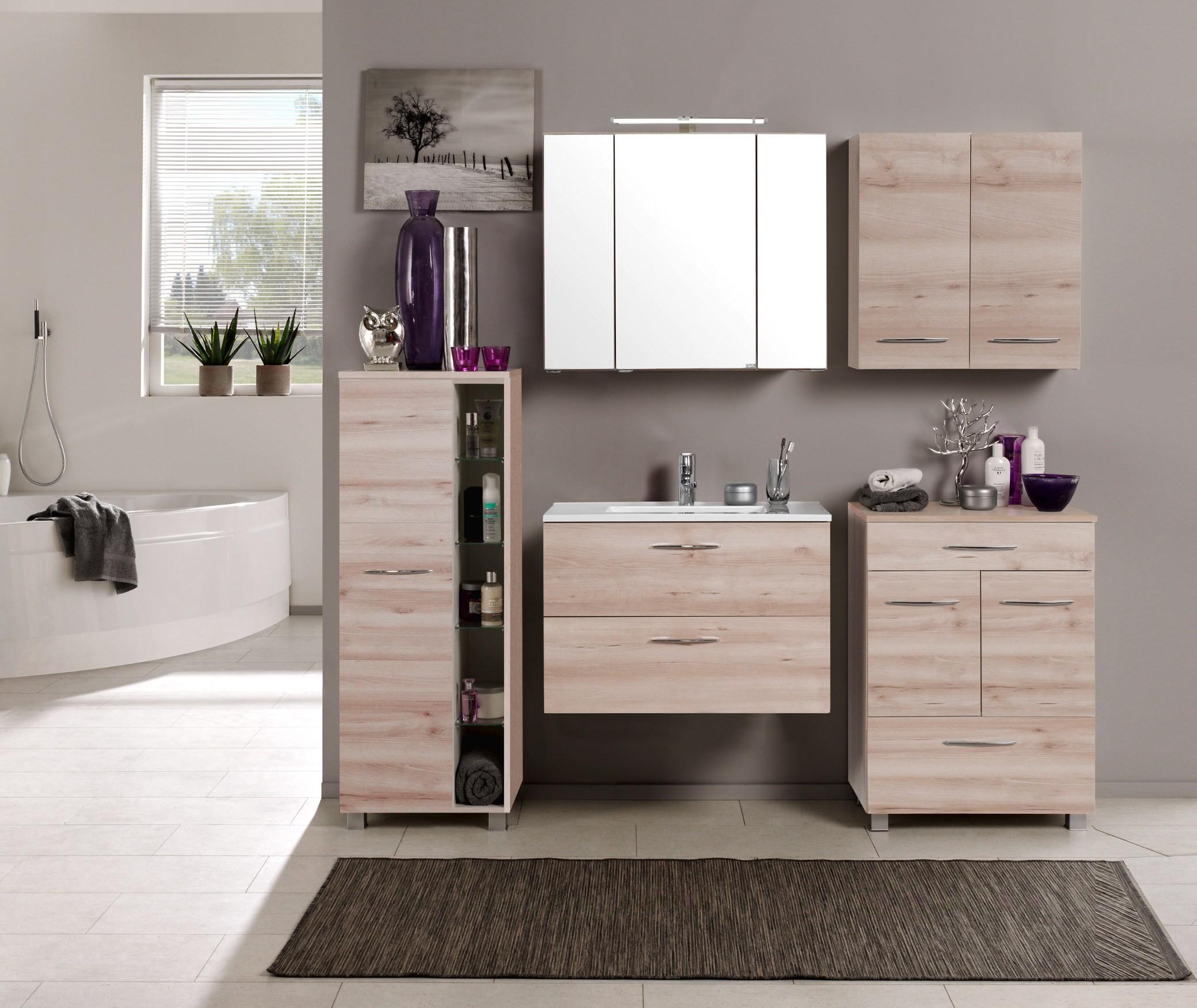 badm bel set portofino mit waschtisch 7 teilig 185 cm breit buche iconic bad badm belsets. Black Bedroom Furniture Sets. Home Design Ideas