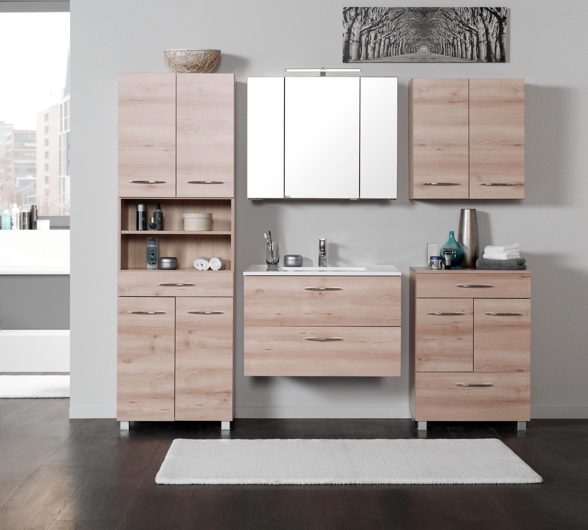 badm bel set portofino mit waschtisch 7 teilig 200 cm breit buche iconic bad badm belsets. Black Bedroom Furniture Sets. Home Design Ideas