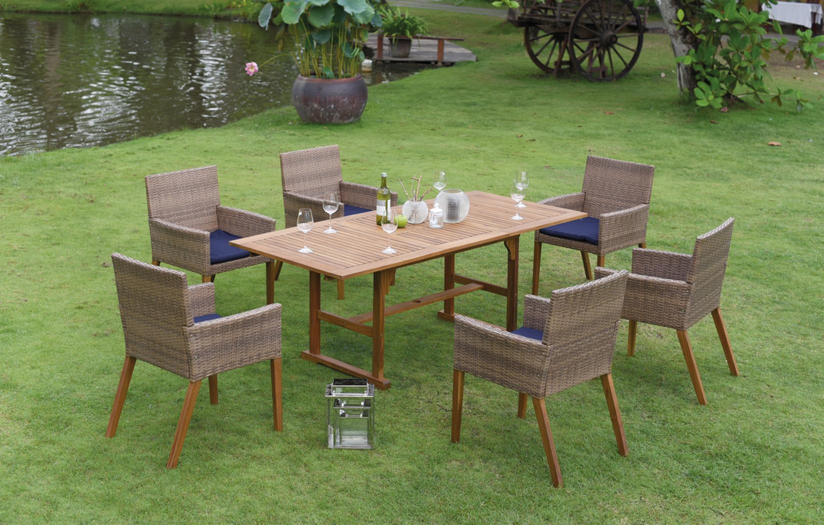 gartenm bel set consul garden rome 13 teilige sitzgruppe akazienholz braun ebay. Black Bedroom Furniture Sets. Home Design Ideas