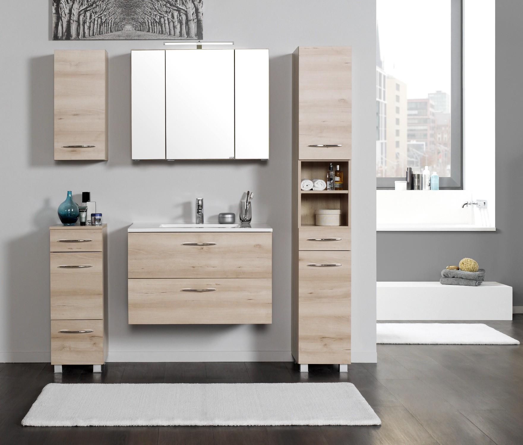 badm bel set portofino mit waschtisch 7 teilig 140 cm breit buche iconic bad badm belsets. Black Bedroom Furniture Sets. Home Design Ideas