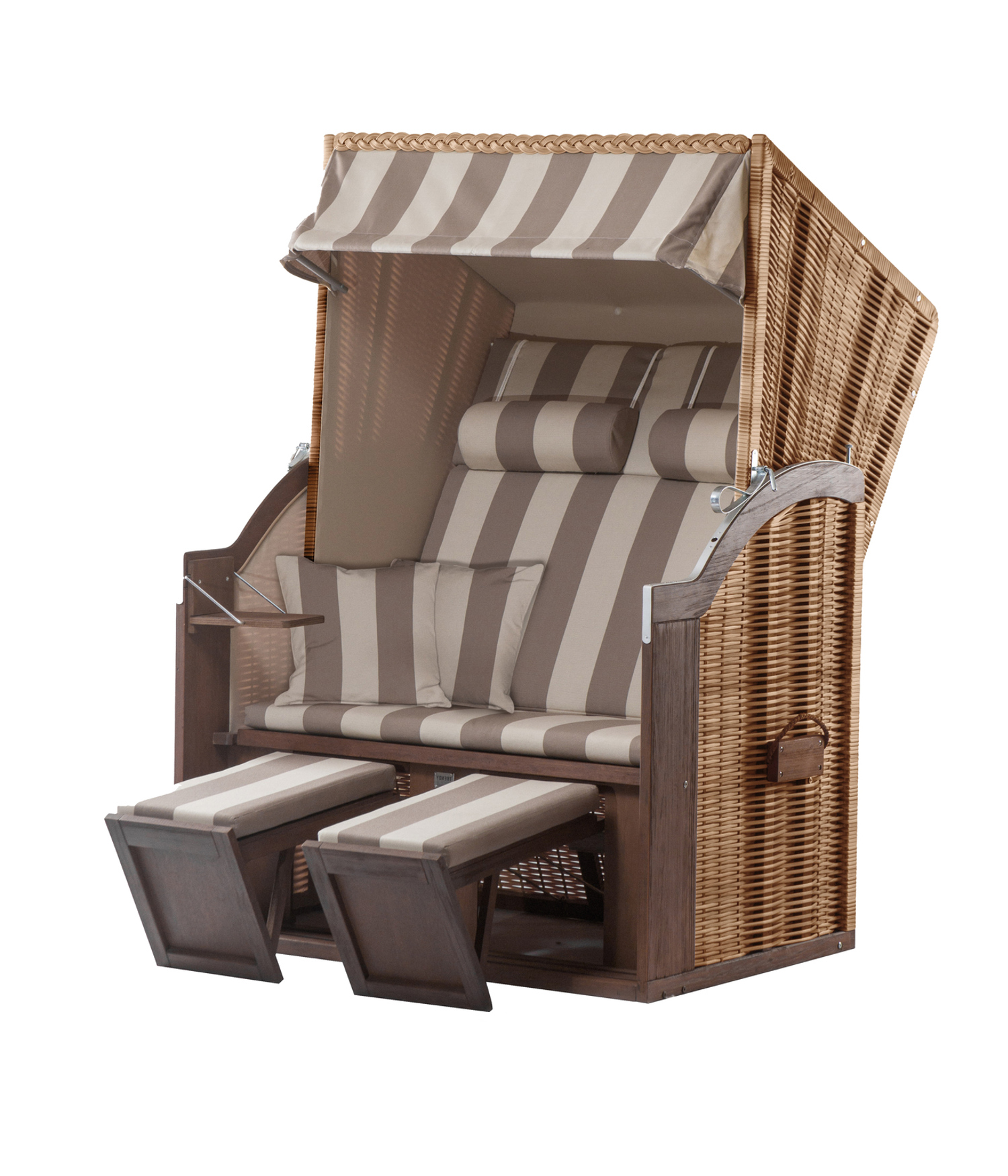 Affordable Strandkorb Devries Trendy Twin Hiddensee Dessin Polyrattan Braun With De Vries Angebot
