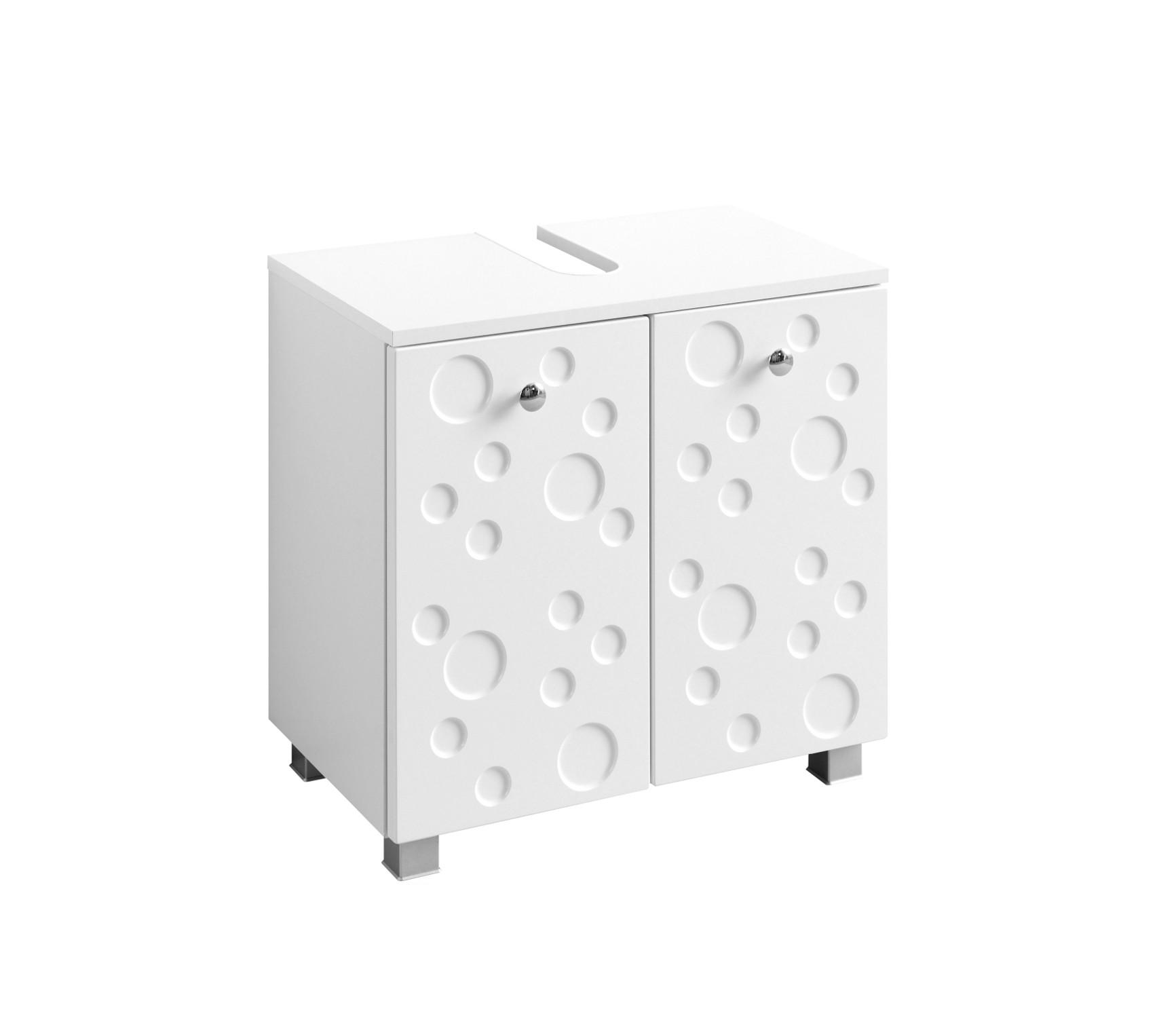 badezimmer set bubble badset mit waschbeckenschrank und spiegel 60 cm weiss ebay. Black Bedroom Furniture Sets. Home Design Ideas