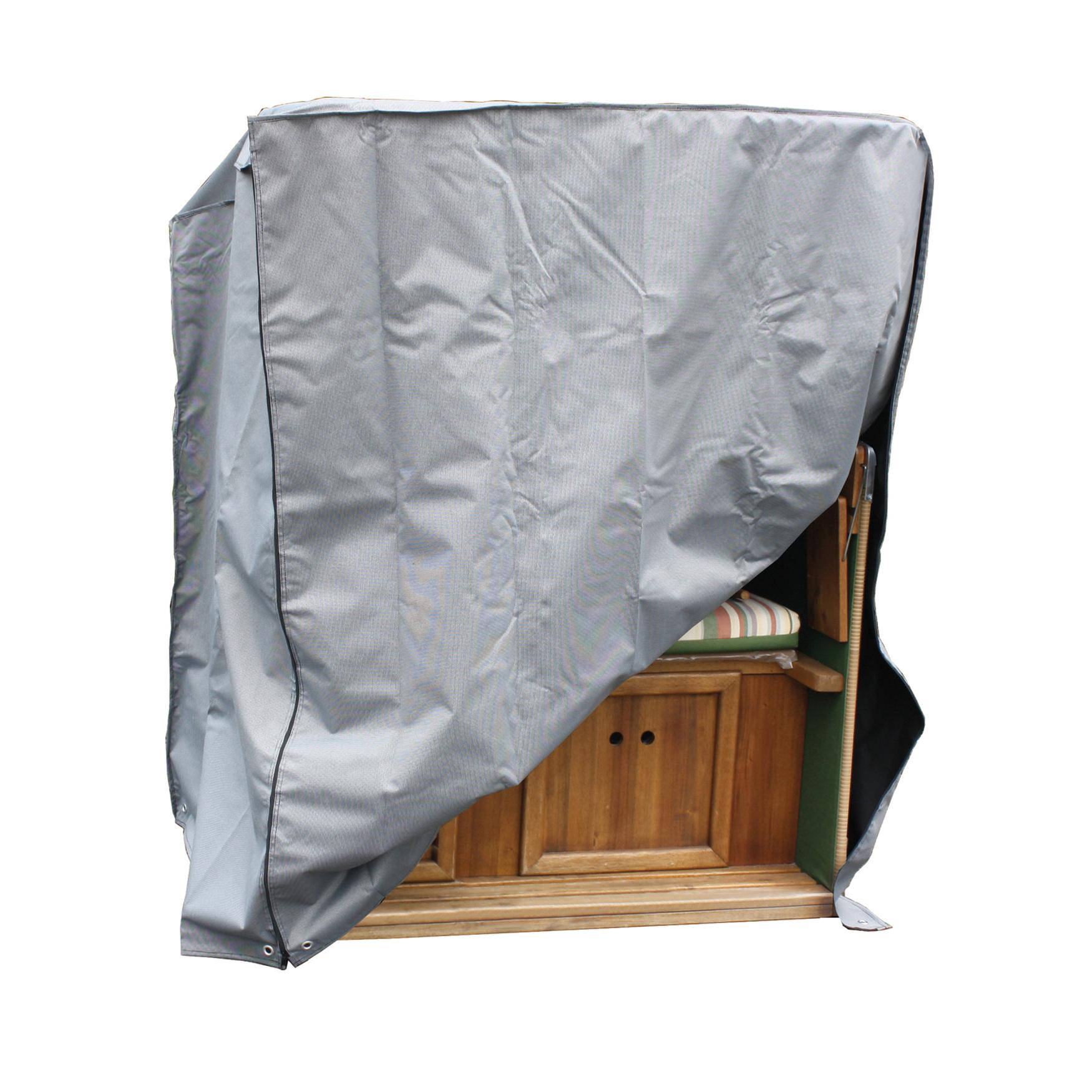 schutzh lle consul garden luxus f r strandkorb 148 cm breit grau garten. Black Bedroom Furniture Sets. Home Design Ideas