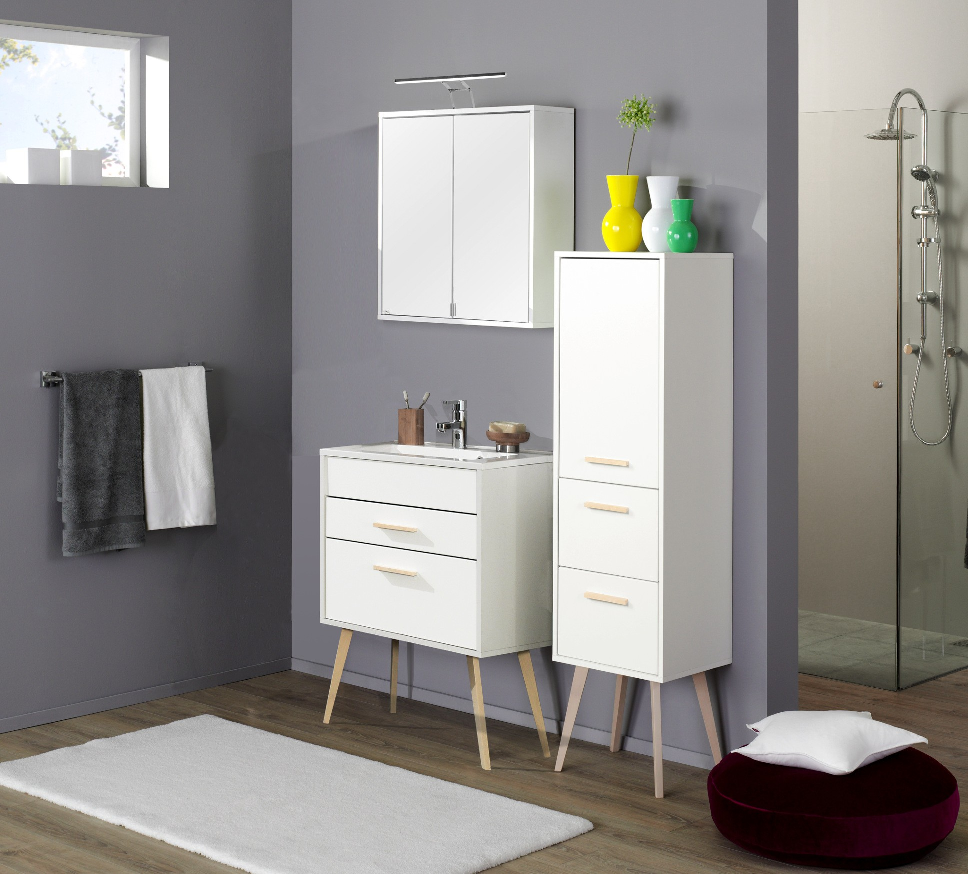 badm bel set malm mit waschtisch 5 teilig 100 cm. Black Bedroom Furniture Sets. Home Design Ideas