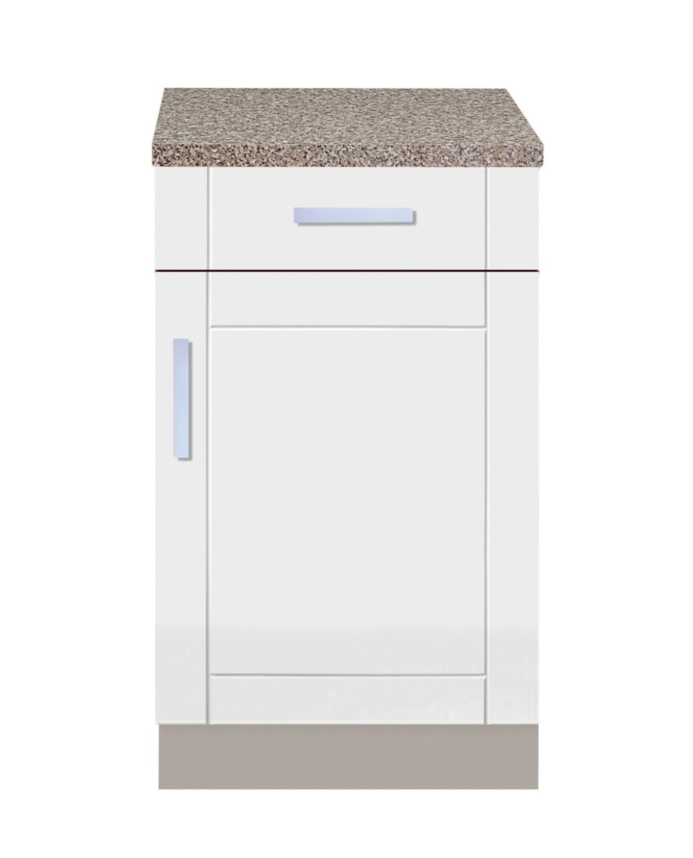 Wunderbar Küchen Unterschrank VAREL Küchenschrank 1 Tür 1 Schubkasten 50 X 60 Cm Weiss