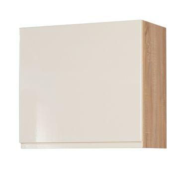 Küchen-Hängeschrank CARDIFF - 1-türig - 60 cm breit - Hochglanz Creme