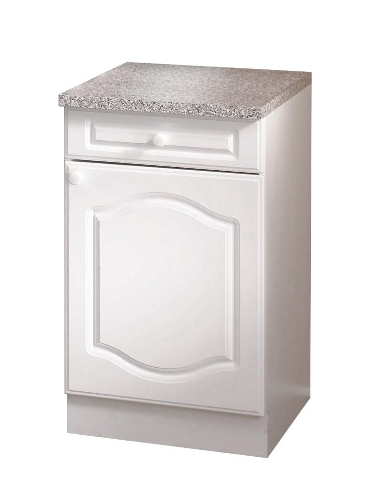 Küchenschrank weiß landhausstil  Küchen-Unterschrank LIST Küchenschrank 1 Tür 1 Schublade 50 x 50 cm ...