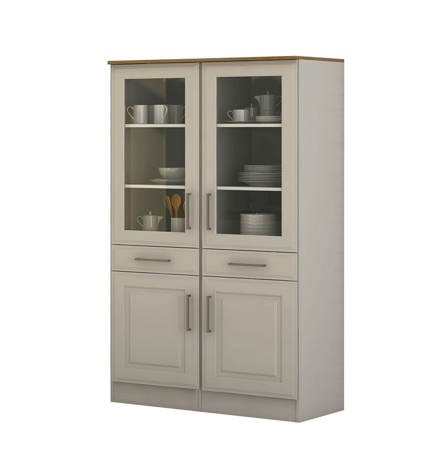k chen vitrine k ln vitrinenschrank k chenschrank k chenm bel 100 cm weiss ebay. Black Bedroom Furniture Sets. Home Design Ideas