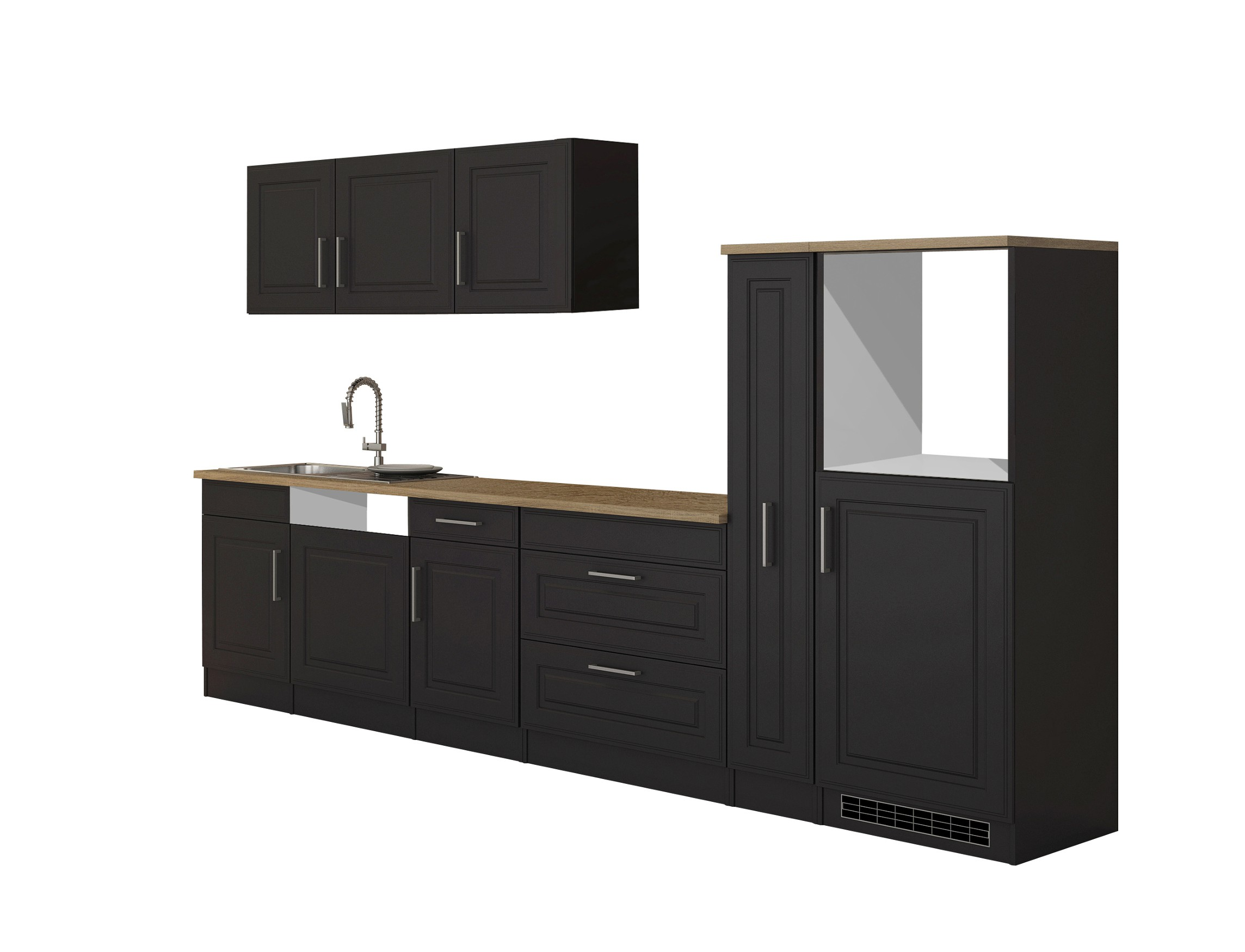 k chenzeile k ln k chen leerblock breite 330 cm grau. Black Bedroom Furniture Sets. Home Design Ideas