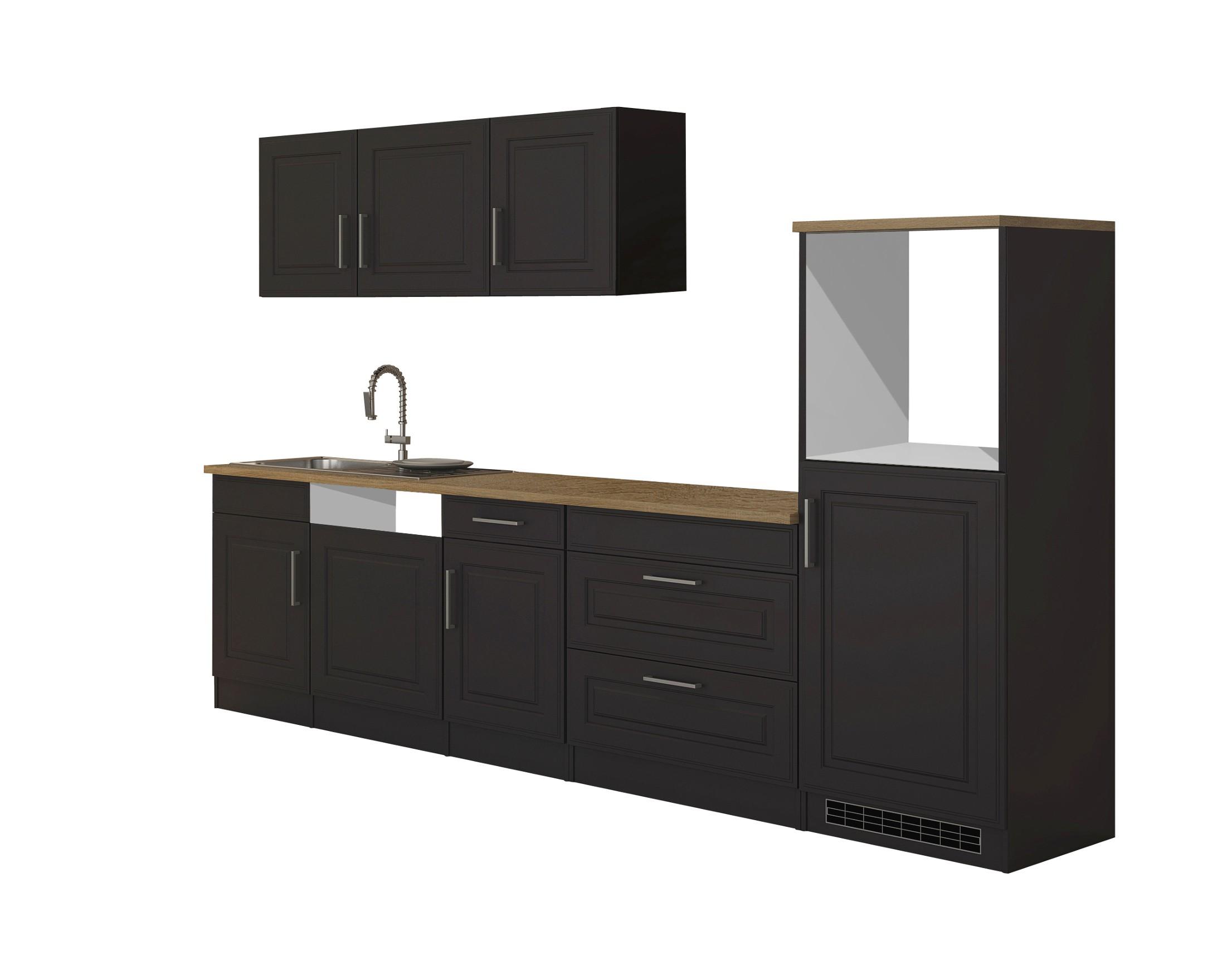 Küchenzeile Landhaus Einbauküche Ohne Elektrogeräte Küchenblock Ohne