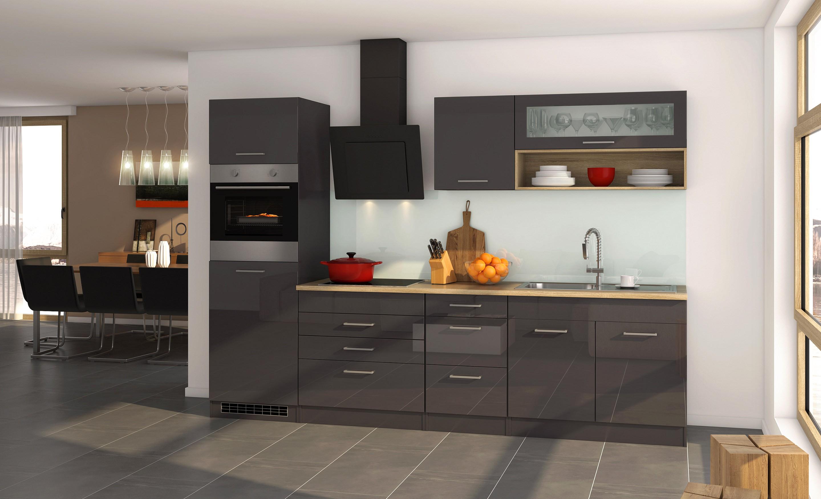 Küchenzeile MÜNCHEN   Vario 2   Küche Mit E Geräten   Breite 290 Cm