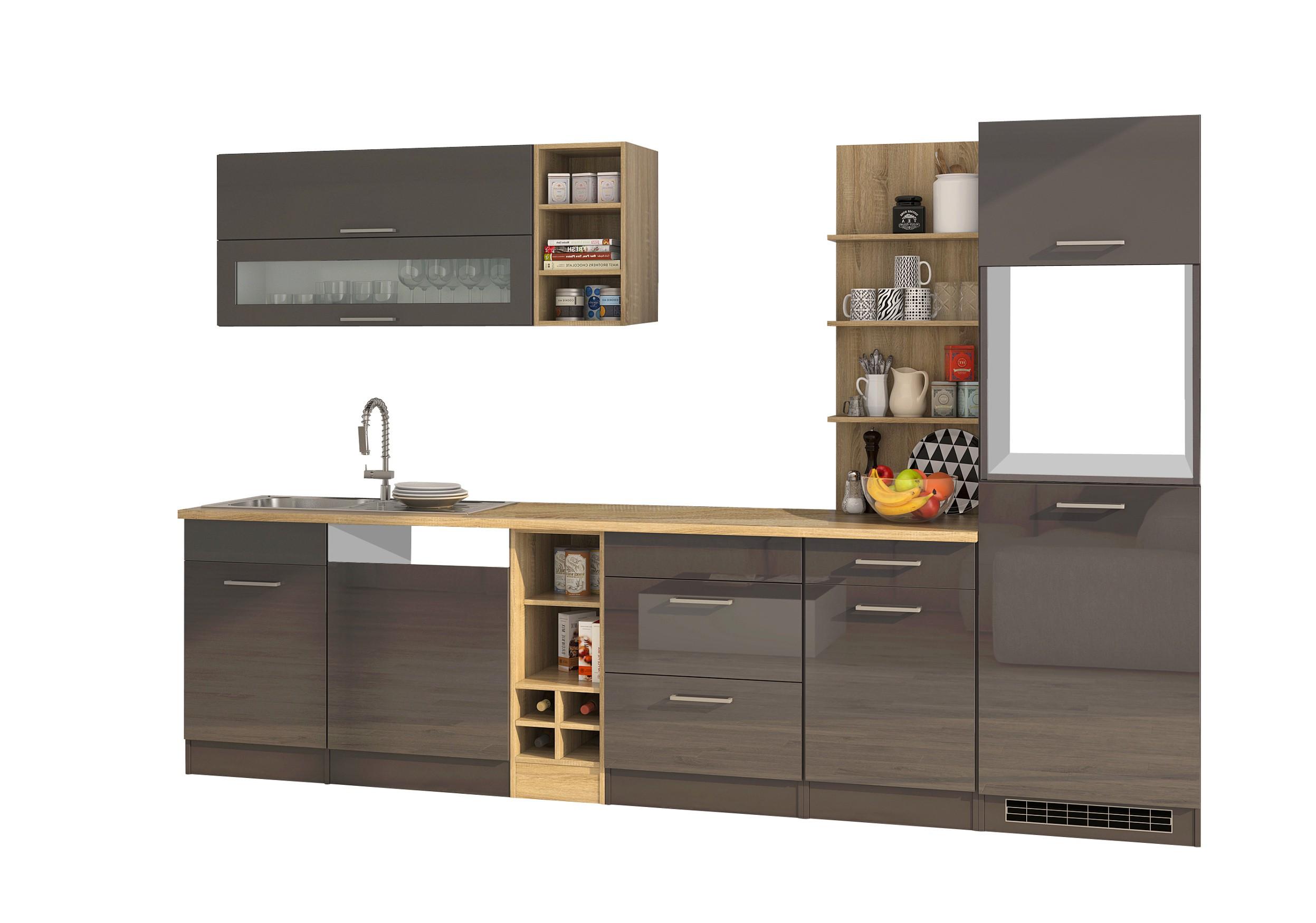 einbauk che ohne elektroger te k chenzeile ohne ger te 310. Black Bedroom Furniture Sets. Home Design Ideas