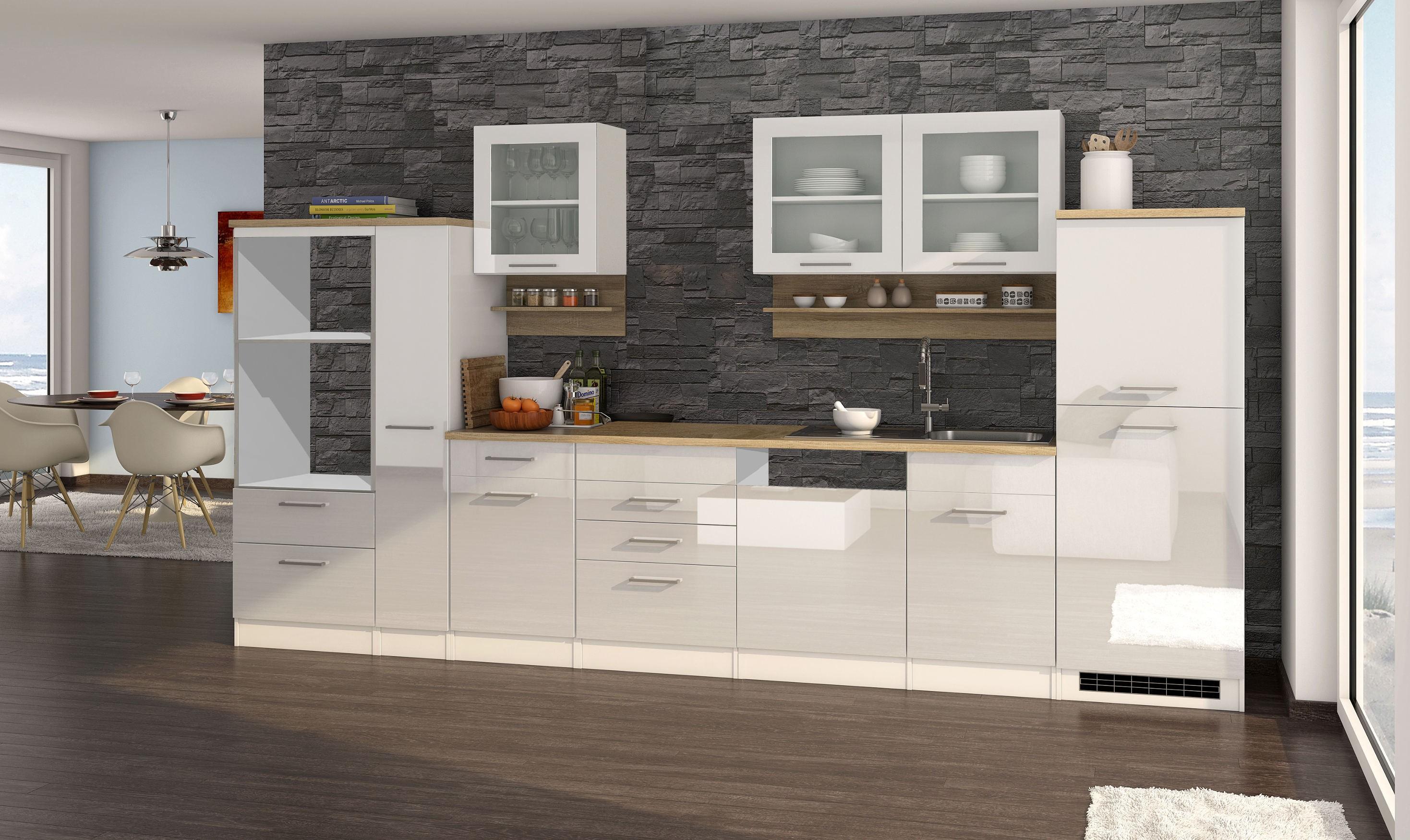k chenzeile m nchen vario 4 k chen leerblock breite 370 cm hochglanz wei k che k chenzeilen. Black Bedroom Furniture Sets. Home Design Ideas
