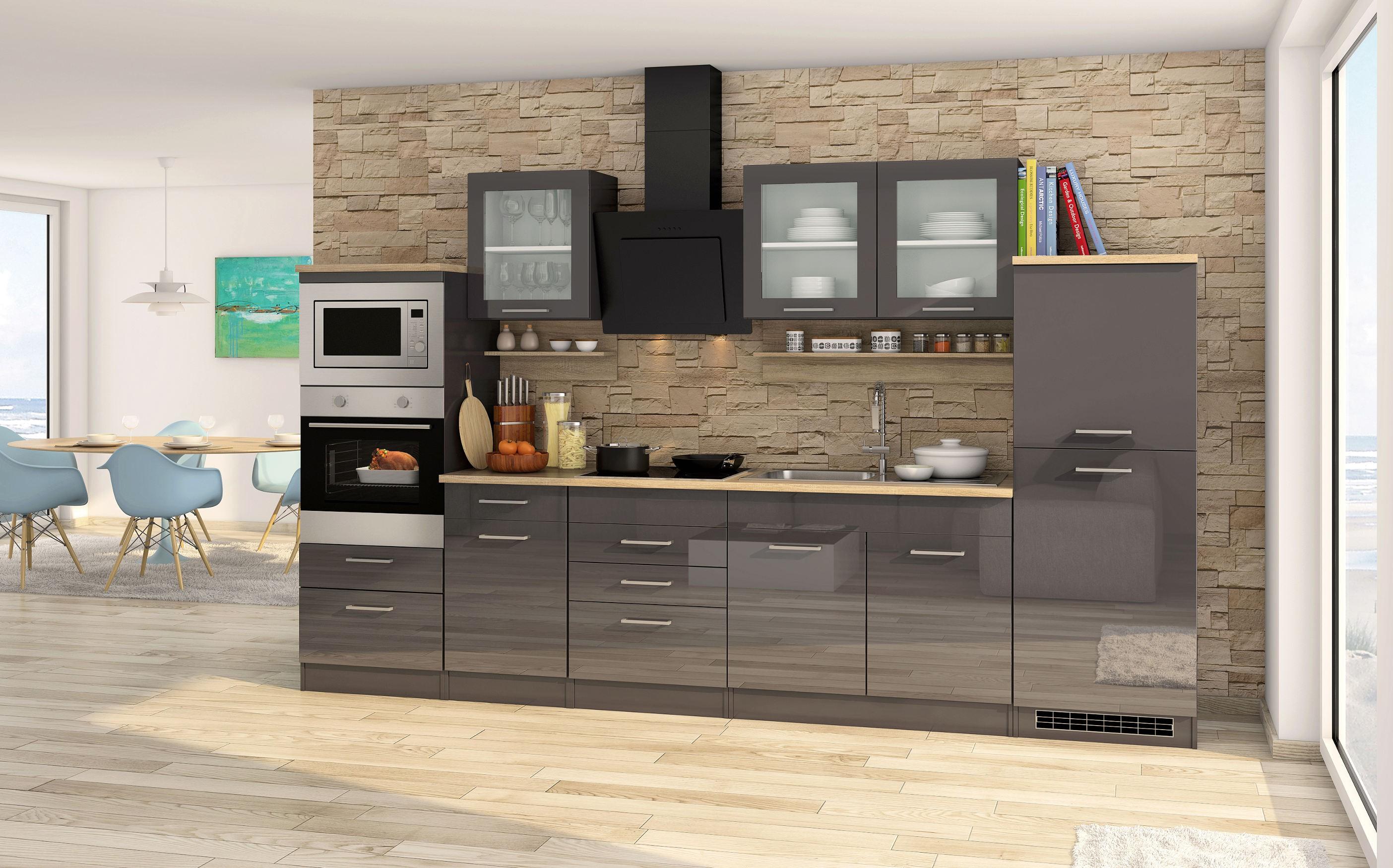Küchenzeile MÜNCHEN   Vario 4   Küche Mit E Geräten   Breite 330 Cm