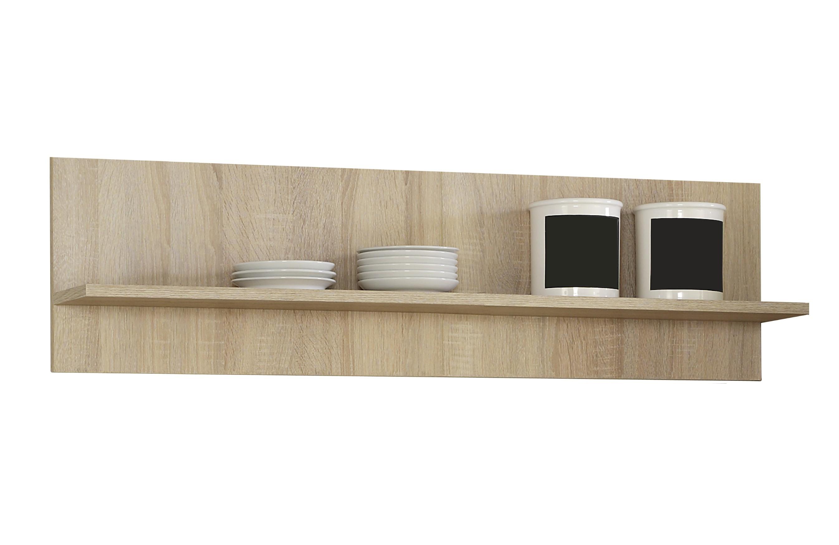 Küchen-Wandregal - 1 Ablagefläche - 110 cm breit - Eiche Sonoma ...