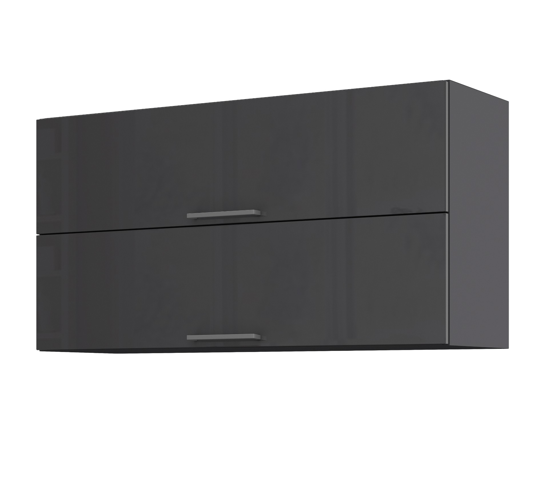 k chen h ngeschrank m nchen 2 klappen 100 cm breit hochglanz grau k che k chen h ngeschr nke. Black Bedroom Furniture Sets. Home Design Ideas