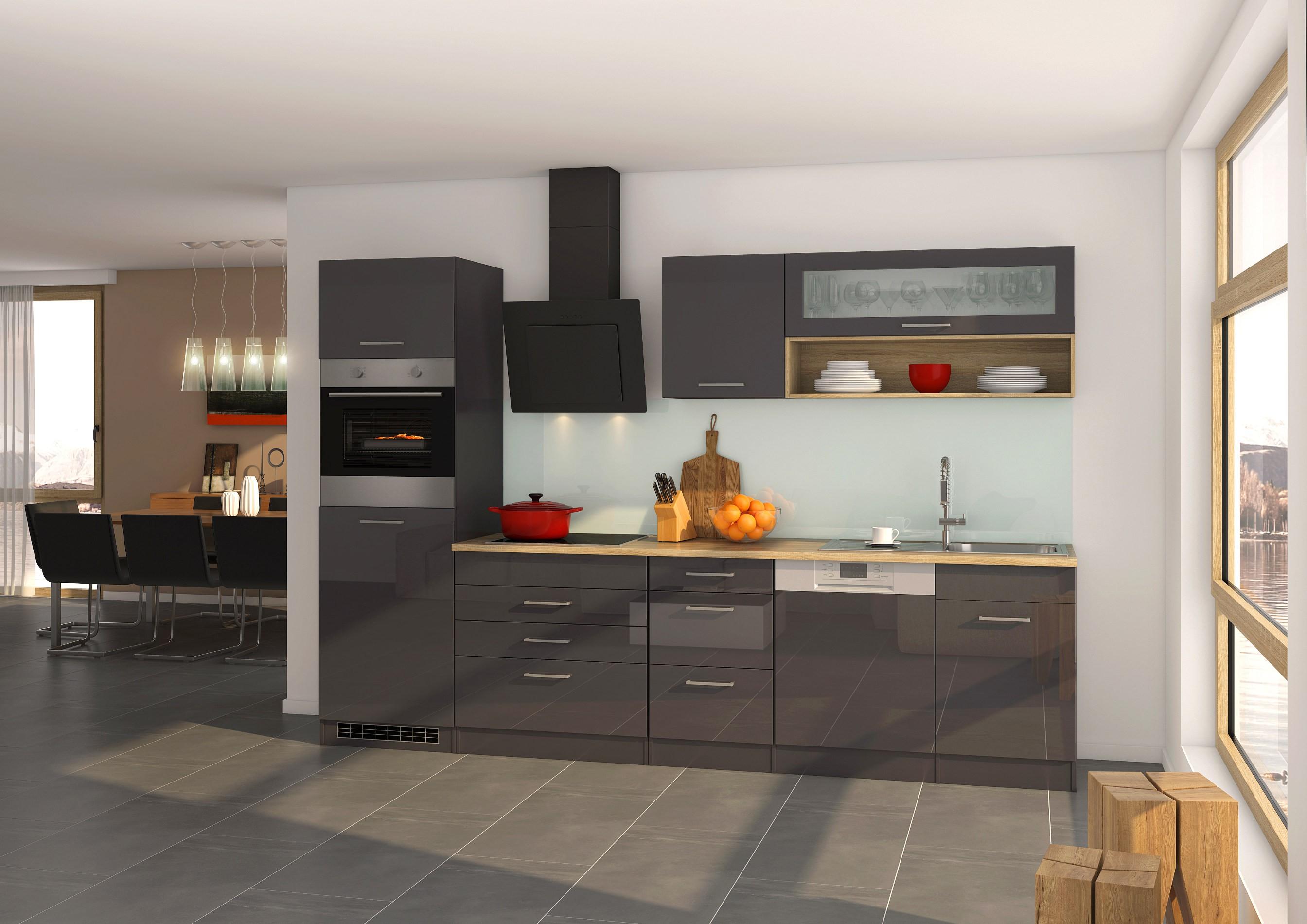 k chen h ngeschrank m nchen 1 glasklappe 110 cm breit. Black Bedroom Furniture Sets. Home Design Ideas
