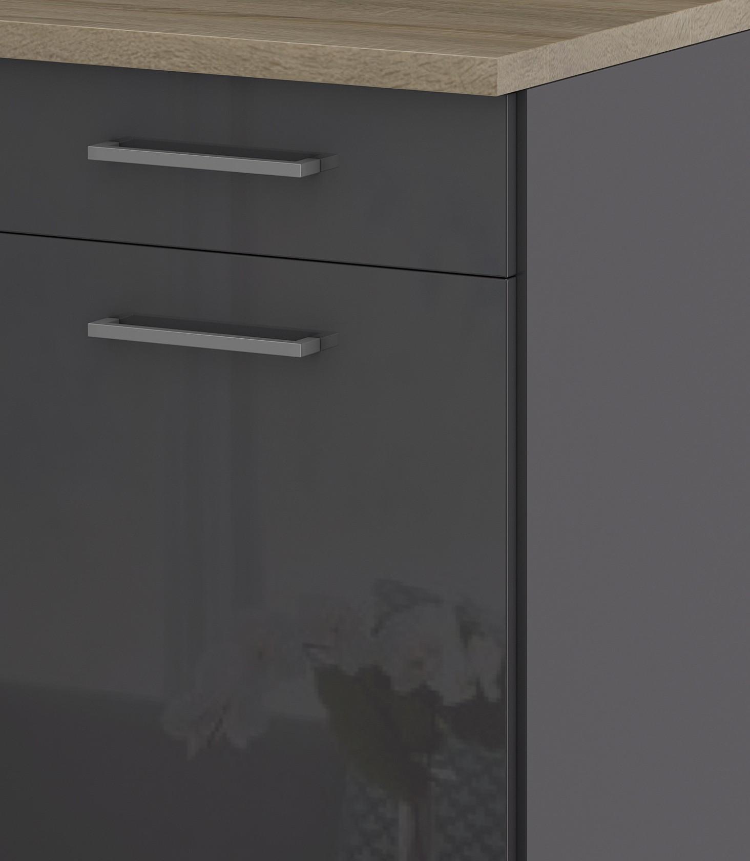 k chen unterschrank m nchen 2 t rig 100 cm breit hochglanz grau graphit k che m nchen. Black Bedroom Furniture Sets. Home Design Ideas