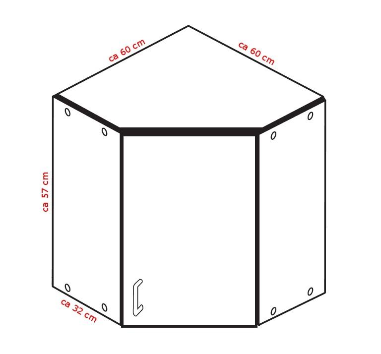 k chen eckh ngeschrank varel 1 t rig 60 cm breit. Black Bedroom Furniture Sets. Home Design Ideas