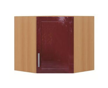 Küchen-Eckhängeschrank VAREL - 1-türig - 60 cm breit - Hochglanz Bordeaux Rot