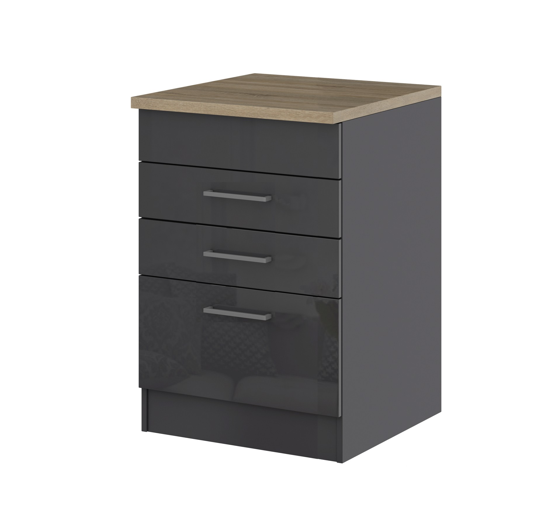 k chen unterschrank m nchen f r kochfeld 60 cm breit hochglanz grau k che k chen unterschr nke. Black Bedroom Furniture Sets. Home Design Ideas