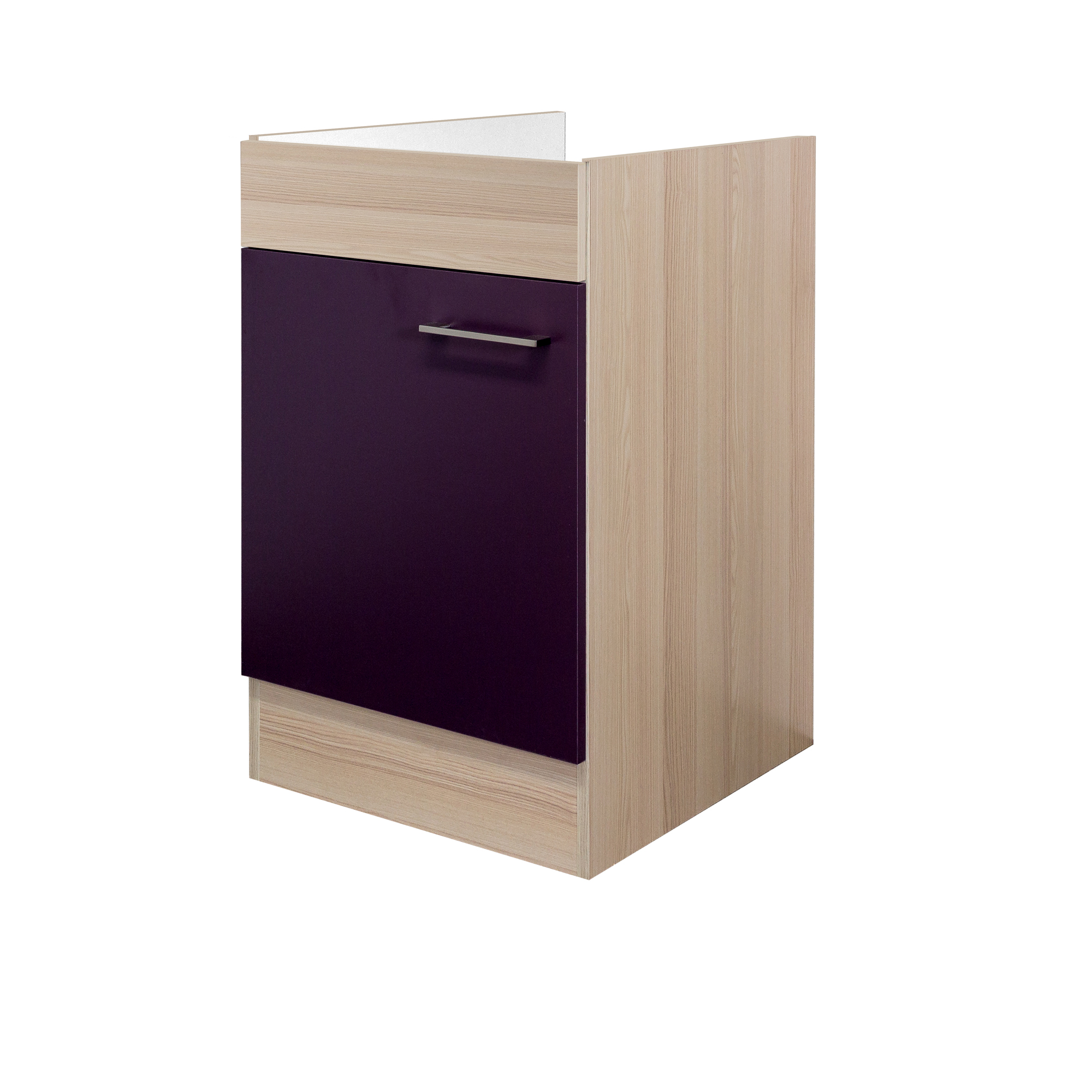 k chen sp lenunterschrank focus 1 t rig 50 cm breit aubergine k che sp lenschr nke. Black Bedroom Furniture Sets. Home Design Ideas