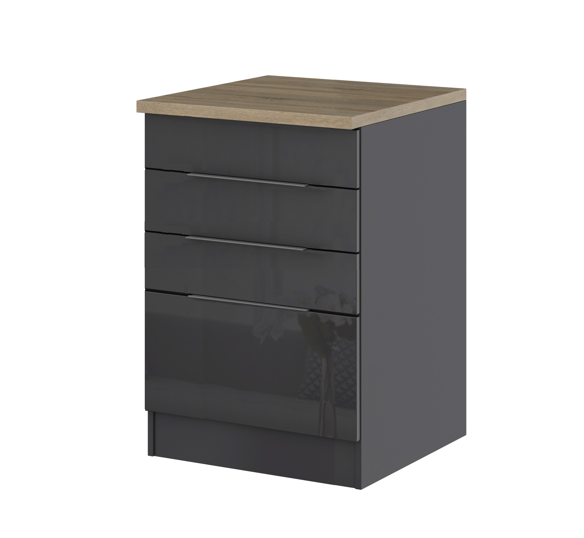 k chen unterschrank hamburg f r kochfeld 60 cm breit hochglanz grau k che k chen unterschr nke. Black Bedroom Furniture Sets. Home Design Ideas