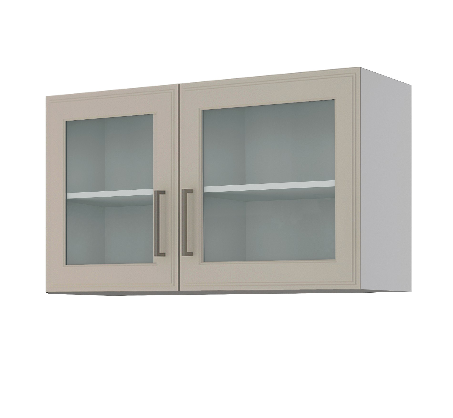 glas h ngeschrank k ln glasschrank oberschrank mit 2 glast ren 100 cm weiss ebay. Black Bedroom Furniture Sets. Home Design Ideas