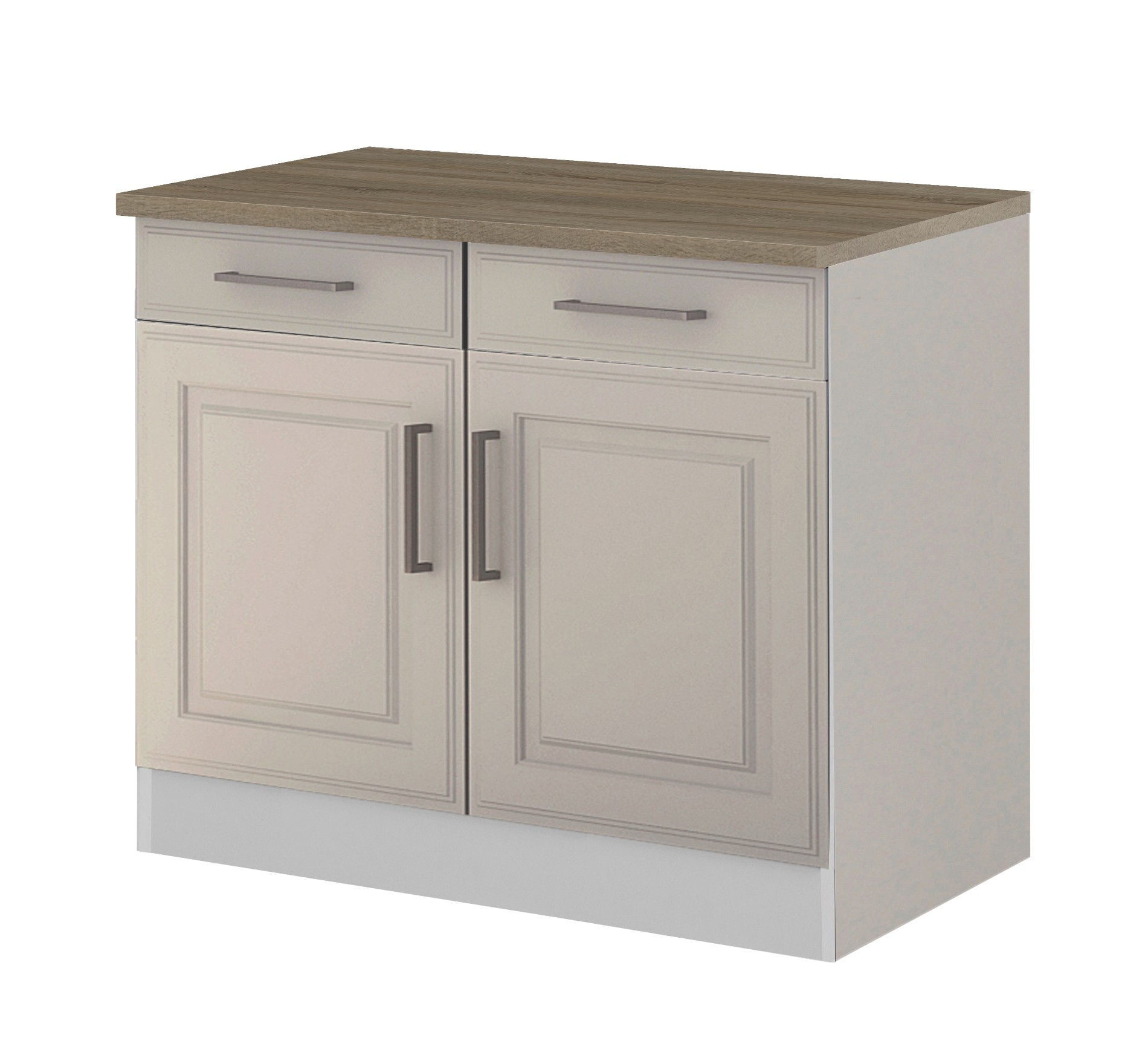 k chen unterschrank k ln 2 t rig 100 cm breit wei k che k chen unterschr nke. Black Bedroom Furniture Sets. Home Design Ideas