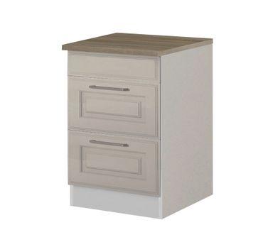 Küchen-Unterschrank KÖLN - 2 Auszüge - 60 cm breit - Weiß