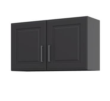 Küchen-Hängeschrank KÖLN - 2-türig - Breite 100 cm - Grau / Graphit