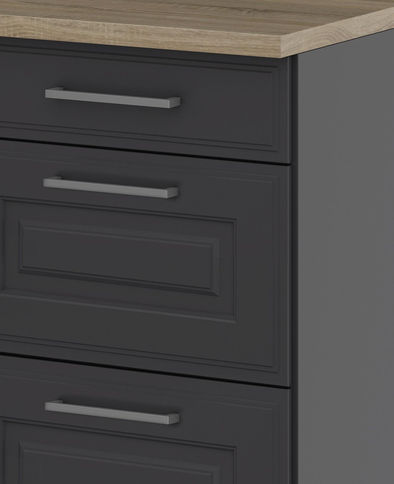 k chen unterschrank k ln 2 ausz ge 1 schublade grau graphit k che k chen unterschr nke. Black Bedroom Furniture Sets. Home Design Ideas