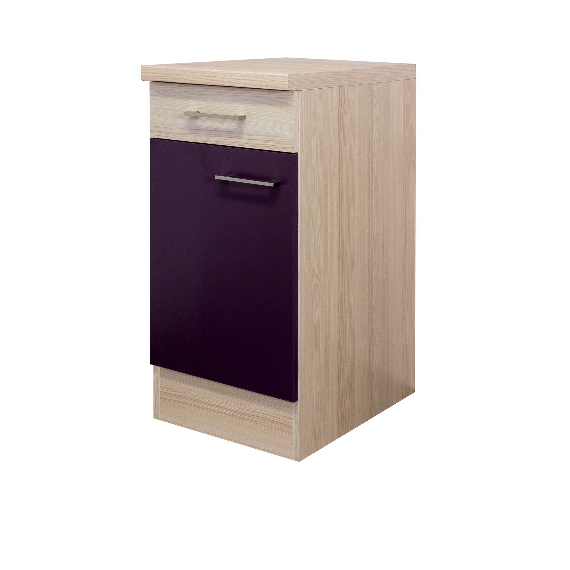 k chen unterschrank focus 1 t rig 40 cm breit aubergine k che unterschr nke. Black Bedroom Furniture Sets. Home Design Ideas