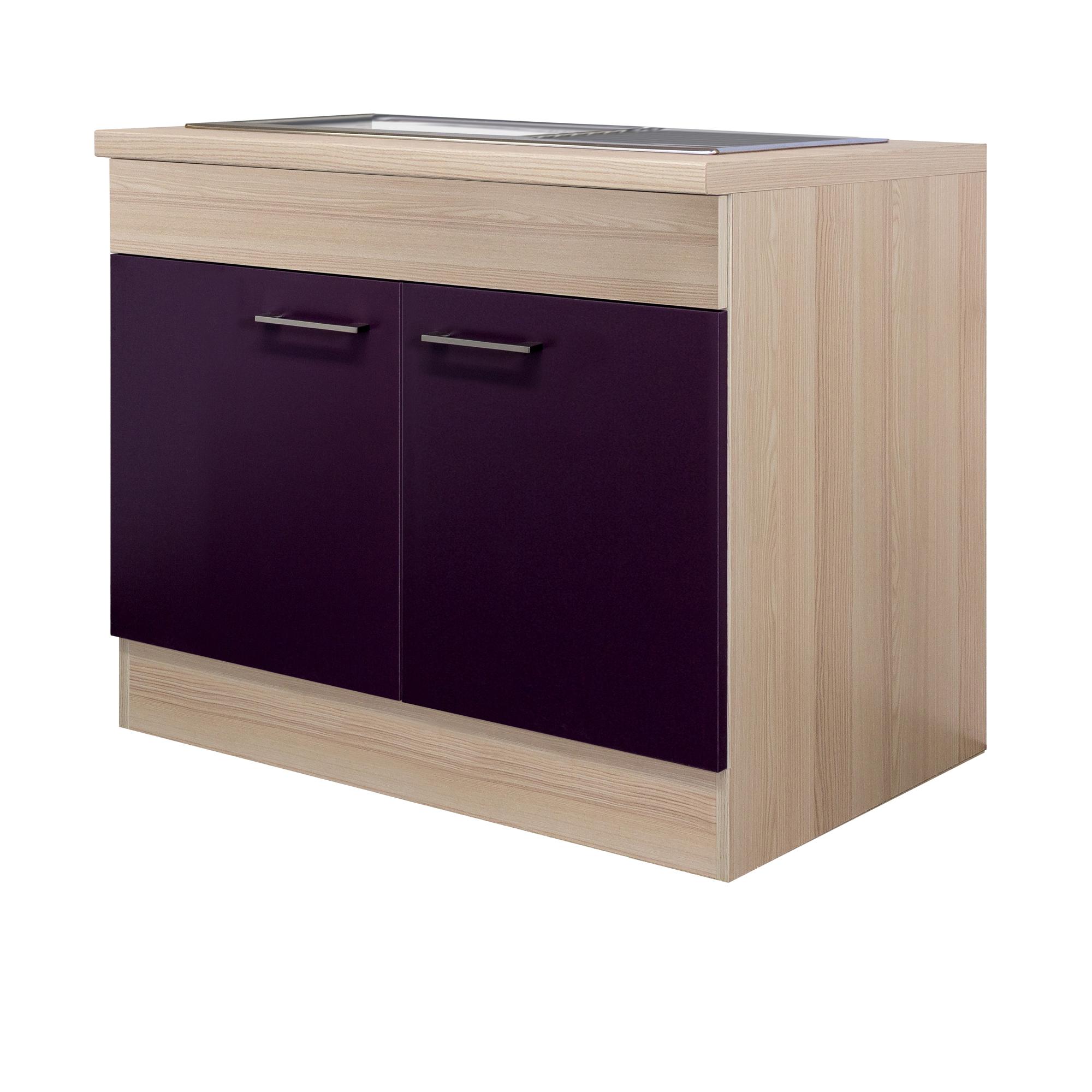 k chen sp lenschrank focus 2 t rig 100 cm breit aubergine k che sp lenschr nke. Black Bedroom Furniture Sets. Home Design Ideas