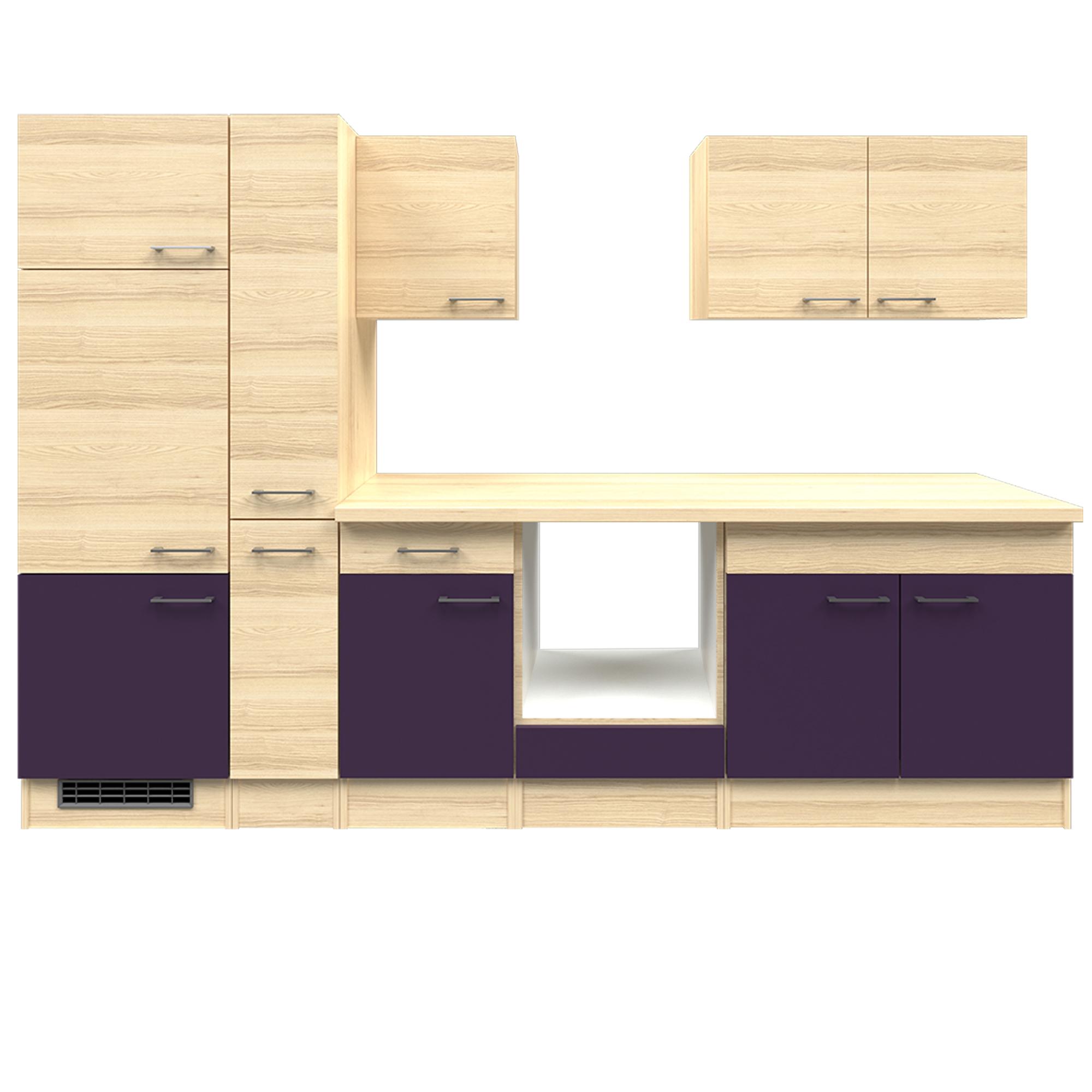 k che ohne ger te k chenzeile k chenblock einbauk che apothekerschrank 300 cm ebay. Black Bedroom Furniture Sets. Home Design Ideas