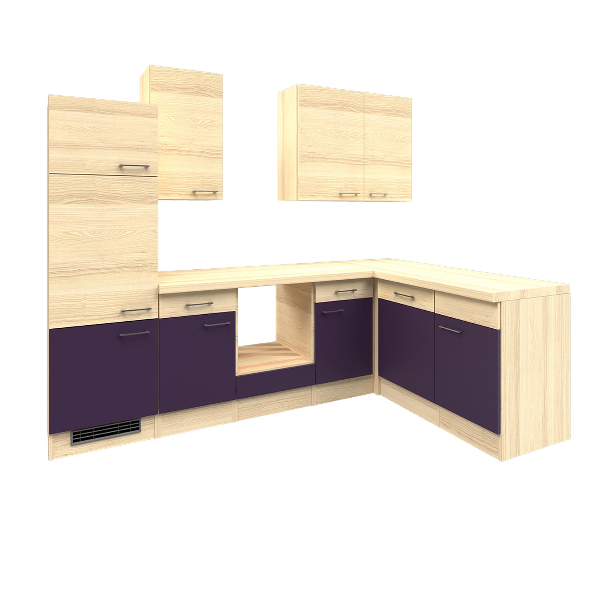 eckk che winkelk che ohne ger te k chenzeile l form einbauk che 280 x 170 cm ebay. Black Bedroom Furniture Sets. Home Design Ideas