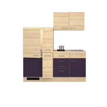 singlek che focus mit 2er glaskeramik kochfeld breite 190 cm aubergine k che singlek chen. Black Bedroom Furniture Sets. Home Design Ideas