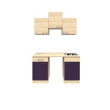Singleküche FOCUS - Küchen-Leerblock - Breite 150 cm - Aubergine