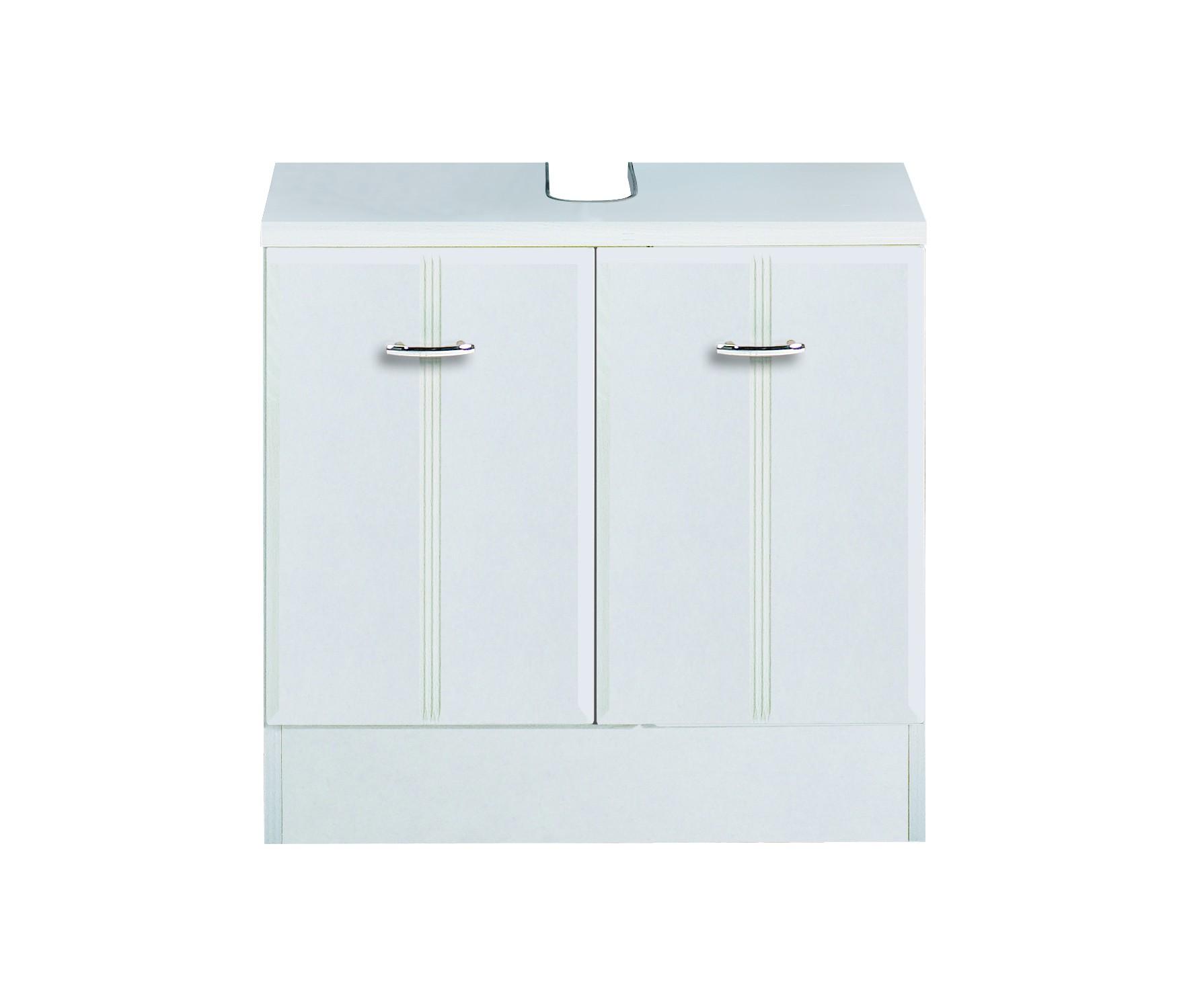 Bad Waschbeckenunterschrank ARTA   2 Türig   60 Cm Breit   Weiß
