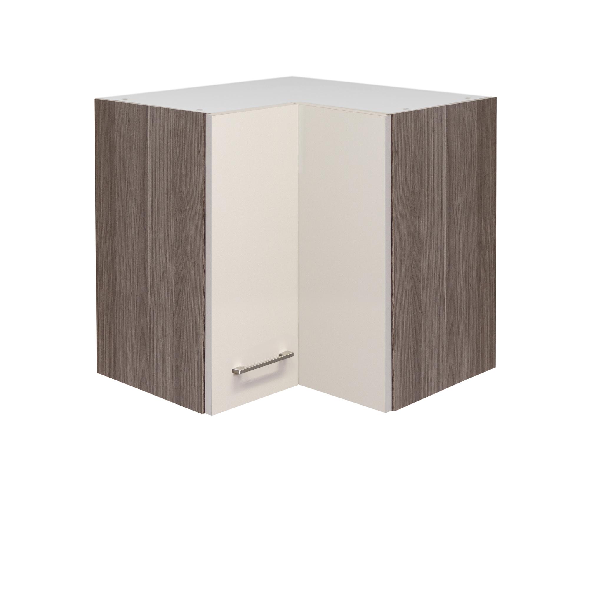 Küchen-Eckhängeschrank EICO - 2-türig - 60 cm breit - Creme Samtmatt ...