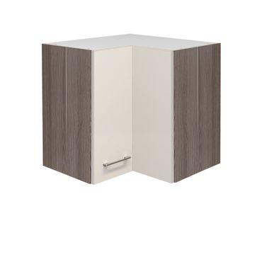 Küchen-Eckhängeschrank EICO - 2-türig - 60 cm breit - Creme Samtmatt