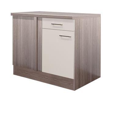Küchen-Eckunterschrank EICO - 1-türig - 110 cm breit - Creme Samtmatt